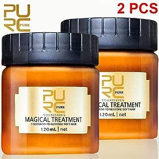 LUSCO< 2pcs>120MLMagical Hair Mask, PURC 5 Seconds Repairs Damage Hair Root Hair Tonic Keratin Hair & Scalp Treatment