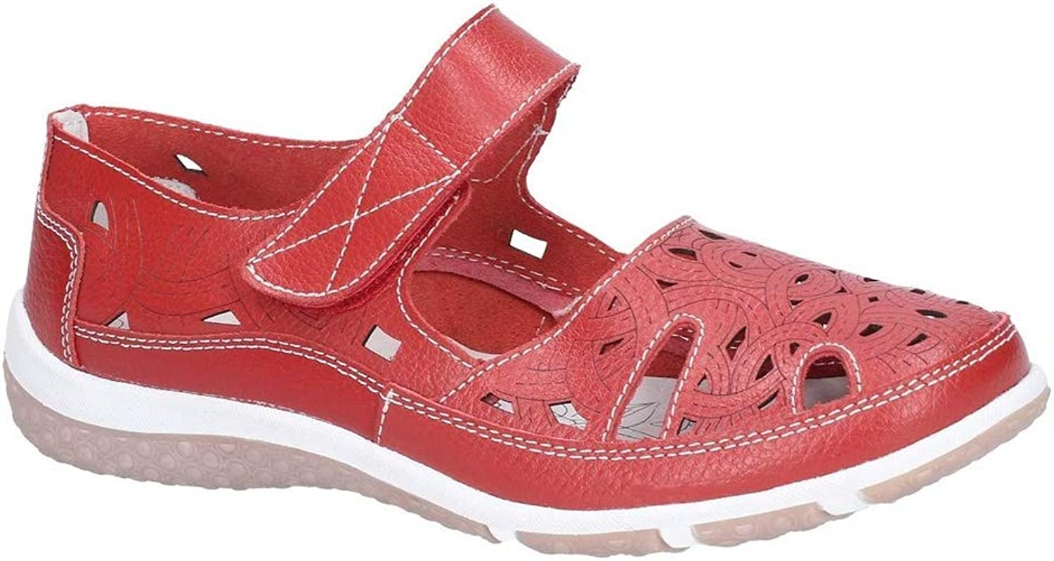 Cotswold Womens Jasmine Touch Fastening shoes Red Size UK 6 EU 39