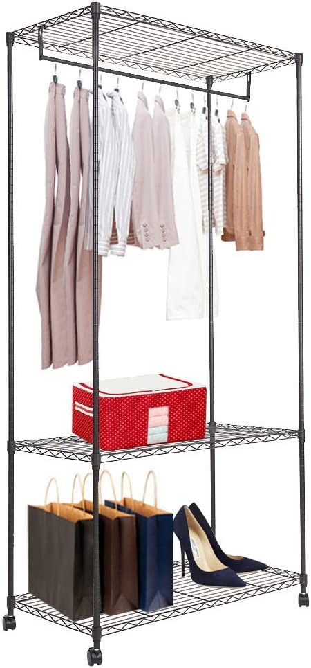 Austin Mall Dporticus Popular shop is the lowest price challenge Heavy Duty Wire Shelving Adjustable Cloth Garment Rack