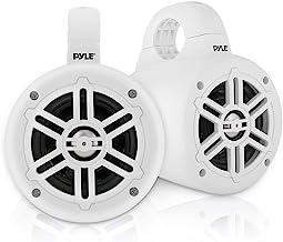 Waterproof Marine Wakeboard Tower Speakers – 4 Inch Dual Subwoofer Speaker Set with..