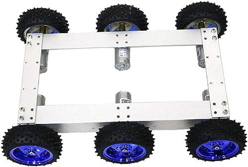 B Blesiya Chassis de Réservoir de Voiture à Chenilles Programmable à 4 Roues - Roue Bleue