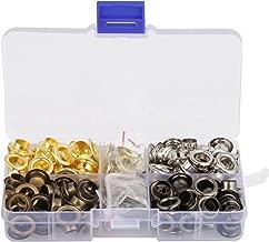 Kit de arandelas de metal 140Pcs 5/16 pulgadas 8mm Kits de ojales de metal Ojales para zapatos Juegos de ojales para zapatos Ropa Manualidades Bolsa Proyecto de bricolaje con caja de almacenamiento