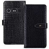 TienJueShi Black Luxury Flip Stand Leather TPU Silicone