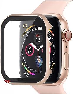 YGGFA Glas+Frame matel case Voor Apple Horloge 5 4 3 44mm 42mm voor iwatch band 40mm 38mm Metalen bumper All-around screen...