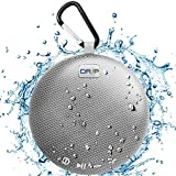 Driptronics Waterproof Portable Bluetooth Shower Speaker with Microphone Clear Crisp Sound, Shockproof, Indoor/Outdoor Use (Grey)