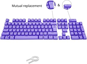Bossi 104 Keys PBT Doubleshot Injection Keycaps Backlight Colors Replacement Keycaps for Mechanical Game Keyboard - Purple