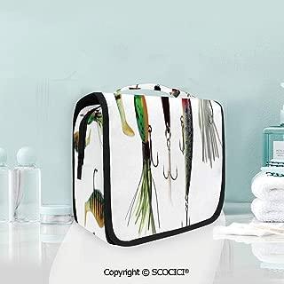 SCOCICI Travel Hanging Wash Bag Kit Various Type of Fishing Baits Hobby Lei