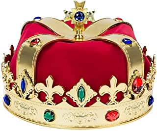 Kaptin Royal Jeweled King's Crown Cosplay Hats Costume Accessory Halloween Party Hats
