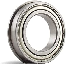 SFR156-ZZ #3, 3/16 x 5/16 x 1/8F inch, Stainless Steel Flanged Radial Bearing