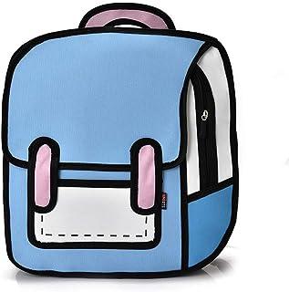 PINGDI - Mochila creativa para mujer 2D de dibujos animados para la escuela, bolsa de cómics para adolescentes