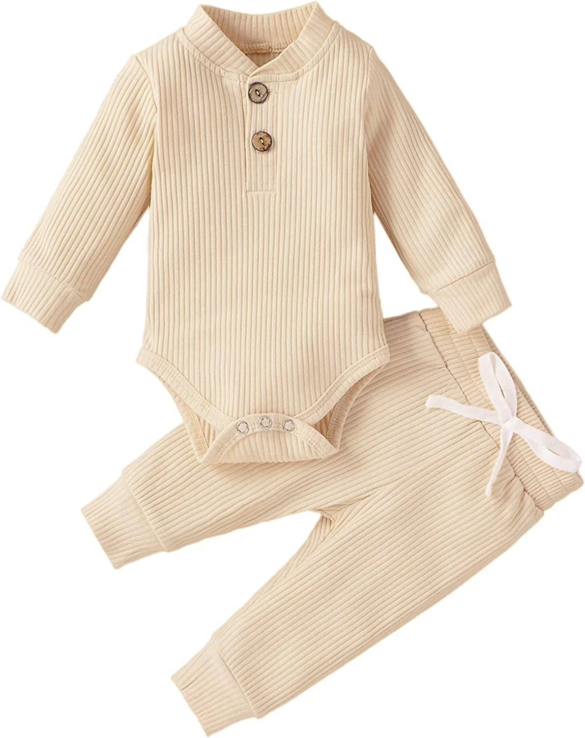 Infant Baby Boys Girls Pajama Set Toddler Clothes Snug fit Basic Cotton Sleepwear pjs For Daily
