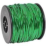 Morex Ribbon Elastic Stretch Cord Ribbon, 1/16 inch by 50 yards, Green