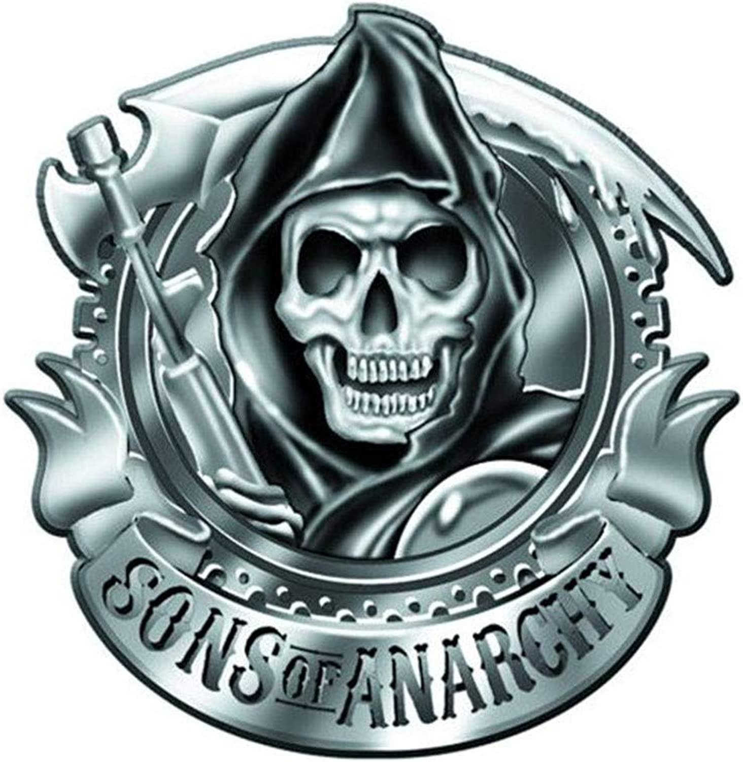 Sons Of Anarchy Chrome Reaper Belt Buckle