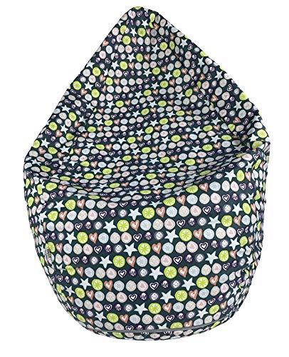 Joyfill Sitzsack mit Bezug, Stuhl für Kinder und Erwachsene, Weicher Stoff, 240L groß - 5007 Love blau