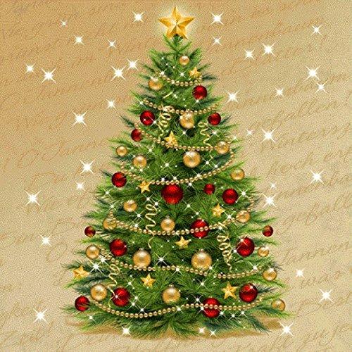 Susy Card 11383890de Navidad Servilleta, impreso en papel, 3capas, 20unidades, diseño: Christmas tree, 33x...