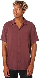 Banks Men's Nashua Mens Ss Shirt Short Sleeve Polyester Rayon White