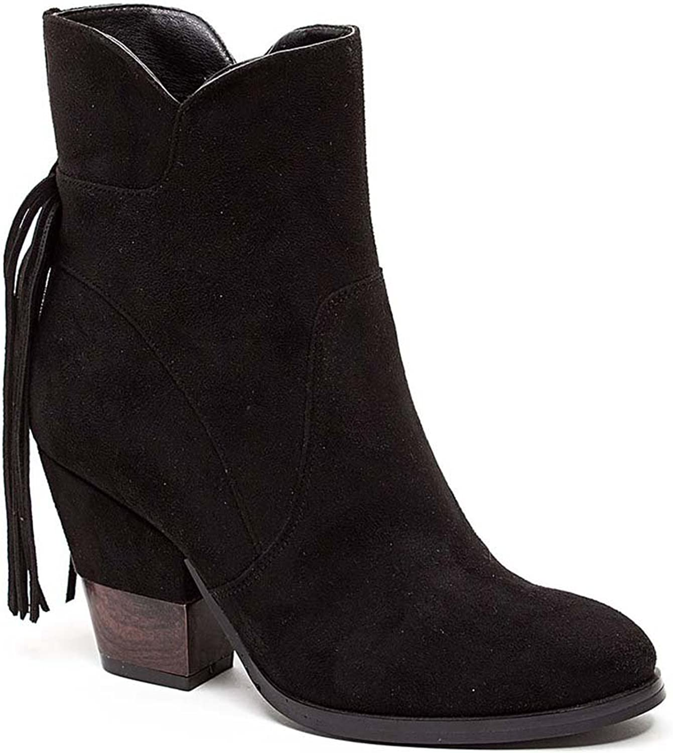 French blue Women's Saddle Rock High Heel Faux Suede Ankle Boot