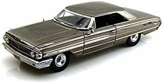 Greenlight 1964 Ford Galaxie 500, Black Chrome Men in Black 3, 12860 - 1/18 Scale Diecast Model Toy Car