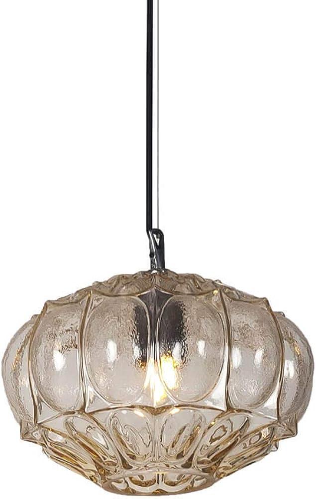 Karman ginger, lampada a sospensione Ø30 cm ,in vetro color paglierino SE1161A