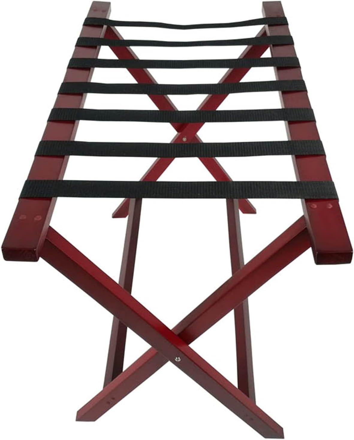 ZXFF Wooden Luggage Rack quality assurance Max 73% OFF Bracket Room Foldab Hotel