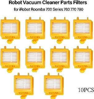 Lixada 10PCS Robot Vacuum Cleaner Parts Hepa Filter Replacement for iRobot Roomba 700 Series 760 770 780