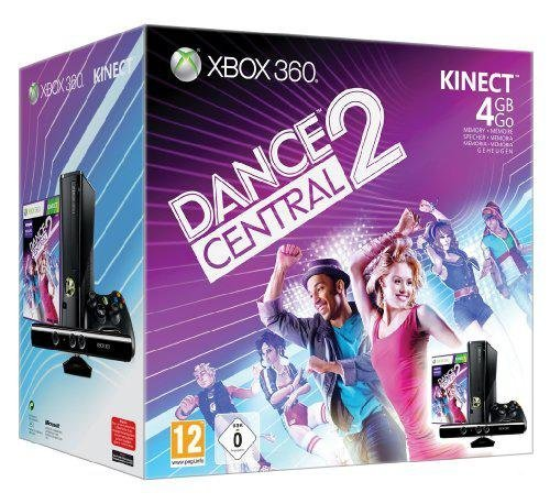 Console Xbox 360 4 Go + Kinect + Kinect adventures ! + Dance central 2