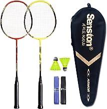 Senston – 2 Player Badminton Racquets Set Double Rackets Carbon Shaft Badminton..