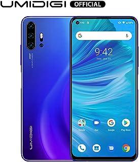 Unlocked Smart Phone 2020, UMIDIGI F2 Side Fingerprint 48MP AI Quad Camera, 6.53'' FHD+ Smartphone 5150mAh RAM 6G ROM 128GB Fast Charging, Android 10 NFC,Blue
