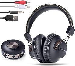 Avantree HT3189 - Auriculares inalámbricos para TV y PC Gaming con transmisor Bluetooth (3,5 mm AUX, RCA, USB Digital Audio, NO Optical, 10 Metros de Largo), Color Negro