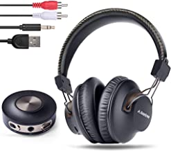 Avantree HT3189 Wireless Headphones for TV Watching w/ Bluetooth Transmitter, Support RCA, AUX 3.5mm Audio Out, NOT For new TV with ONLY Digital / Optical Out, 40 Hrs PlayTime, 100ft Range
