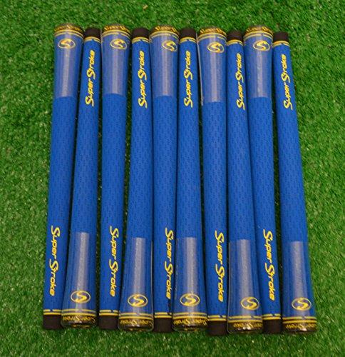 10 SuperStroke S-Tech 標準ゴルフグリップ - ブルー - 18956