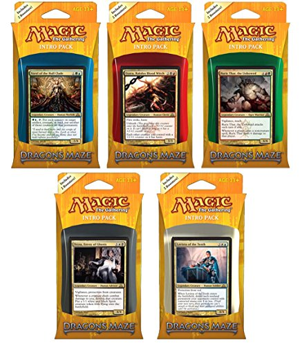 Magic The Gathering M:TG Laberinto de dragón, Juego de 5 Paquetes de introducción