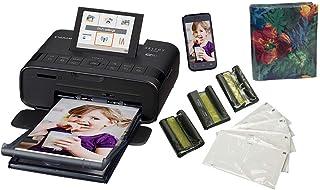 طابعة صور سيلفي CP1300، طابعة صور محمولة تعمل مع نظامي اير برينت وموبريا للطباعة، اسود من كانون