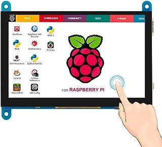 Elecrow 5 inch Capacitive Touch Screen 800x480 TFT LCD Display HDMI Interface Supports Raspberry Pi 2B 3B 3B+ BB Black, Ba...