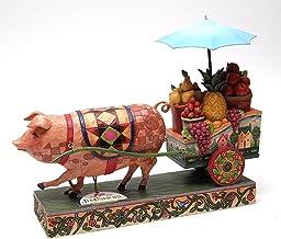 IWDSC Jim Shore Pig Pulling Cart