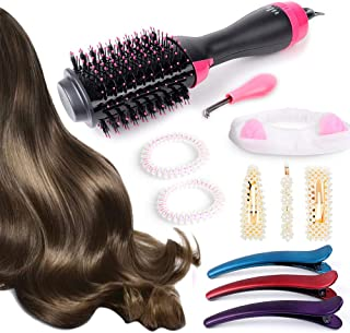 Alpacasso hot air brush hair dryer 11pcs blow dryer brush one step 3-in-1 Styler Volumizer Multi-function Straightening Curly Fast hair home salon styling