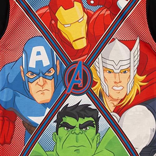 Marvel Pijamas de Manga Corta para niños Avengers Multicolor 8-9 Años