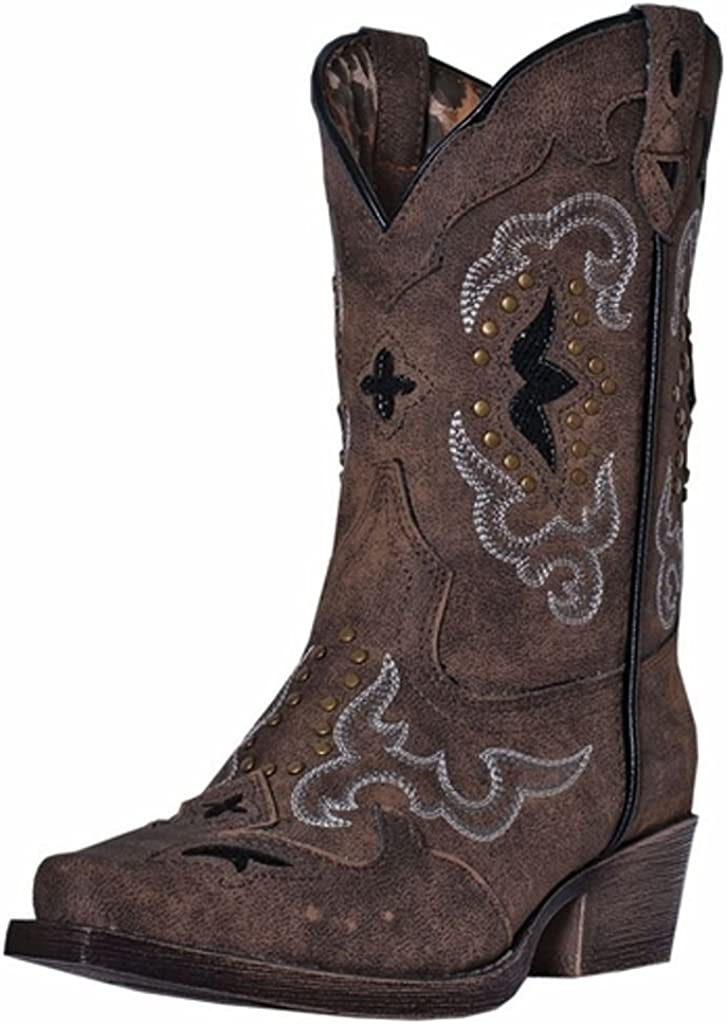 Laredo Milwaukee Mall Girls' Rulay Cowgirl Popularity Toe Boot Snip