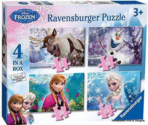 Ravensburger Disney Frozen 4in1box puzzel - 12+16+20+24 stukjes - kinderpuzzel