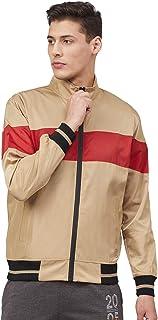 CHKOKKO Men Wind Cheater Lightweight Hooded Sports Solid Winter Jacket
