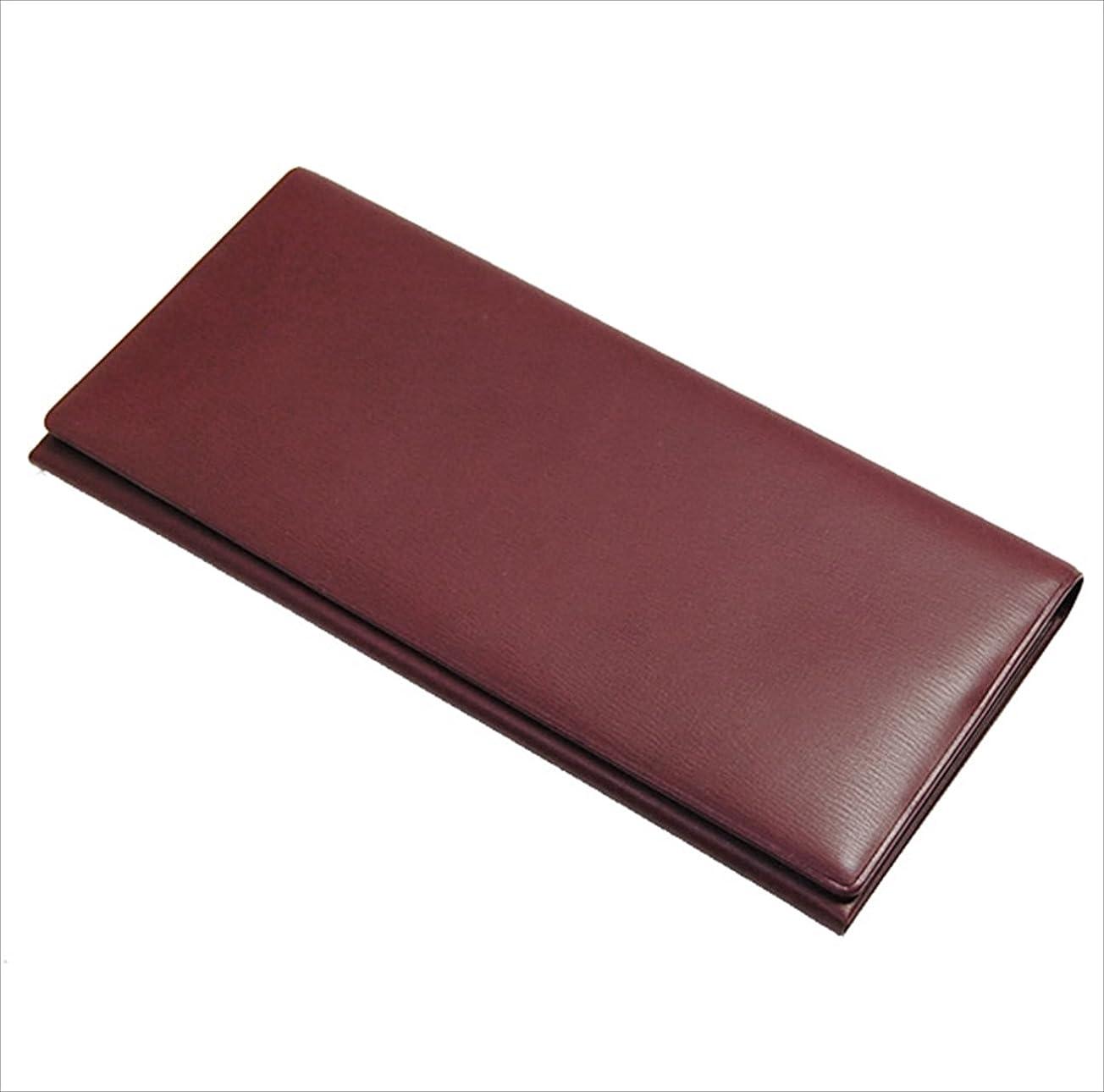 偽造置き場で出来ている日本製 長財布 財布 カード6枚 収納 牛革?本革 レザー ワイン