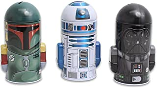 The Tin Box Company Set of Star Wars Molded Saving Banks: Darth Vader, R2-D2, Boba Fett