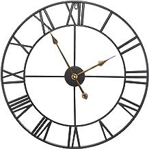 October Elf 40 cm Horloge Murale silencieuse avec Chiffres Romains Vintage Horloge de Squelette en m/étal s/éjour caf/é h/ôtel Bureau Maison d/écoration Cadeau