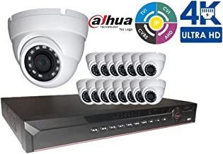 Dahua Penta-brid 4K Security Package: 16CH 4K Penta-brid XVR52A16-4K 5 in 1 (CVI TVI AHD IP and Analog) No HDD + (16) 4MP Outdoor IR HDW1400 2.8MM Eyeball (Local Support)
