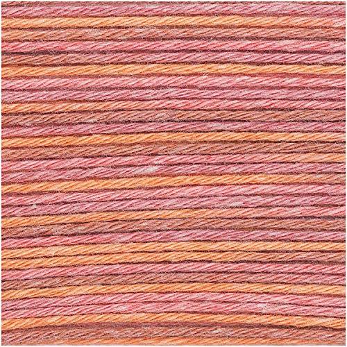 Rico Baby Cotton Soft Print dk – Couleur : 25 – Orange – Rose – Coton fin pour mode bébé – (stock : V-BRR-ET)
