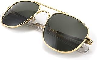 نظارات شمسية من FEISEDY للرجال بتصميم عسكري مستقطبة الطيار مربعة الشكل هيكل حربة B2623