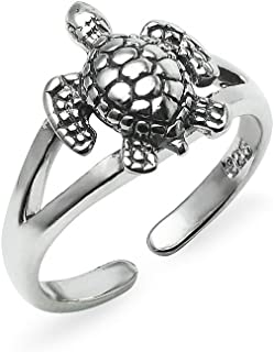 Sterling Silver Toe Ring Turtle Small Size Jewelry For Women