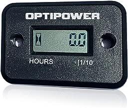 OptiPower Waterproof Hour Meter for Generators ATV Morotcycle PWC Marine Motors Dirt Bikes Lawn Equipment Jet Ski Any 2 or 4 Stroke Engine