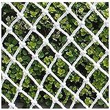 Nfudishpu Schutznetz Filet White Security, Filetschutz vor Balkon von Kindern auf der Terrasse, Filet Kletterseil Für den Außenbereich, Terrasse