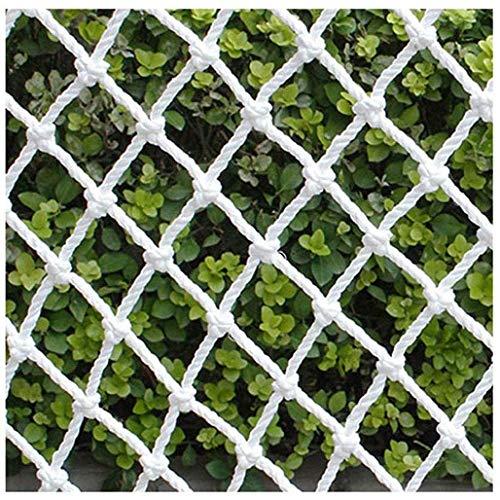 Nfudishpu Filet Protection Filet sécurité Blanc, Protection du Filet du Balcon des Enfants sur la terrasse, Cord'escaladu Filet l'extérieur, terrasse